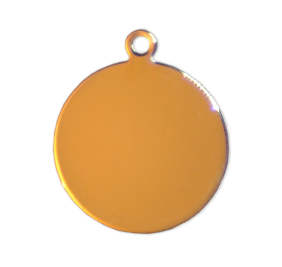 Circular Tags - Gold - 27mm - (10 pieces)