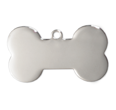 Dog Bone Tags - Silver - 37mm - (10 pieces)