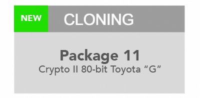 MiraClone cloning Package 11 - Toyota G Chip