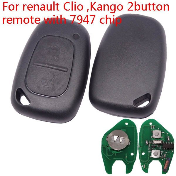 Renault 2 button remote Aftermarket Key Shell from 2000